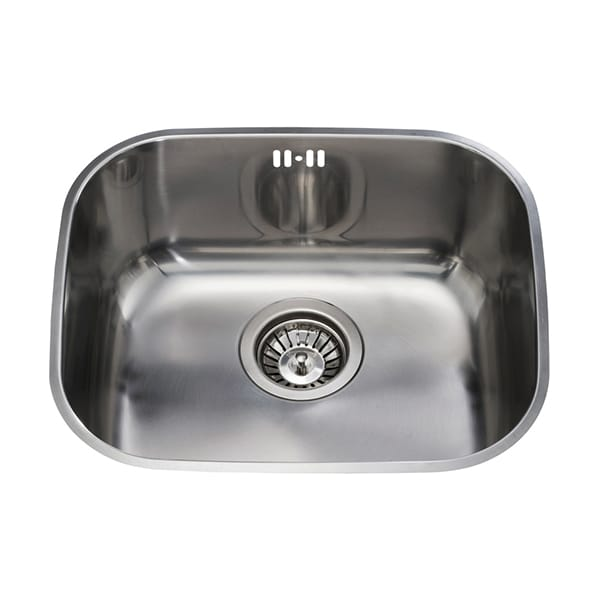 CDA - KCC22SS - Undermount three quarter bowl sink, stainless steel