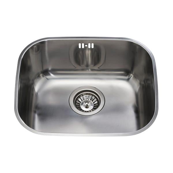 CDA - KCC22SS - Undermount three quarter bowl sink, stainless steel