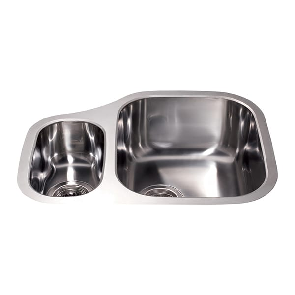 CDA - KCC27SS - Stainless steel undermount right-hand one and a half bowl sink