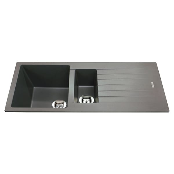 CDA - KG74GR - Composite one and a half bowl sink