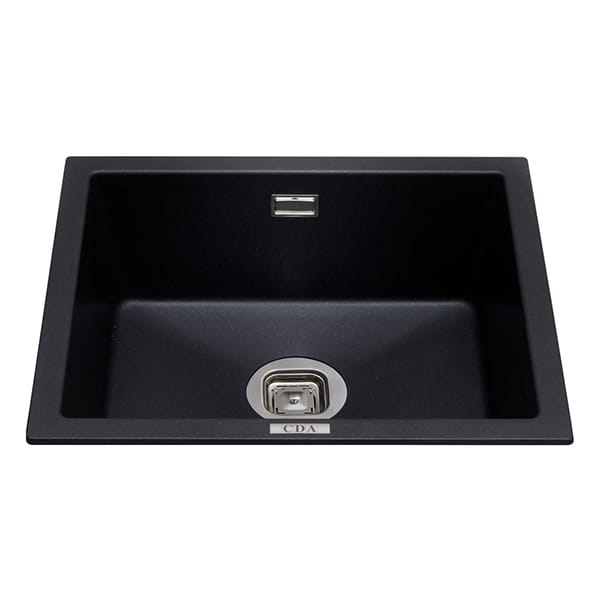 CDA - KMG24BL - Composite undermount/inset single bowl sink