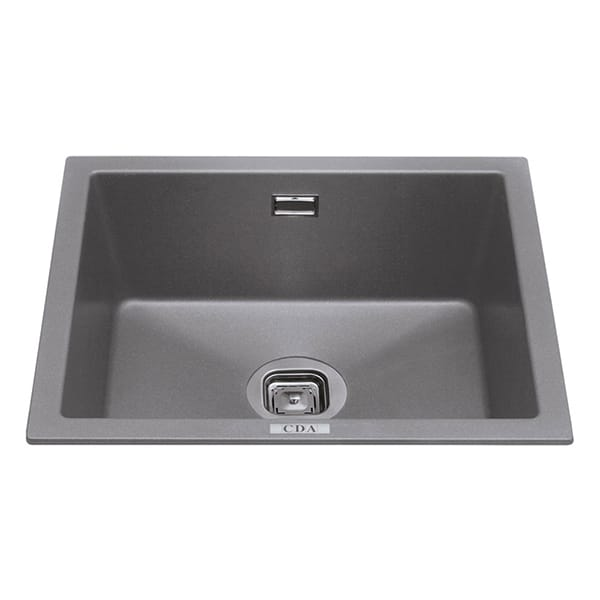 CDA - KMG24GR - Composite undermount/inset single bowl sink