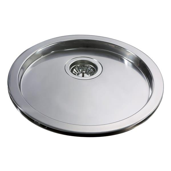 CDA - KR20SS - Single round drainer sink, stainless steel