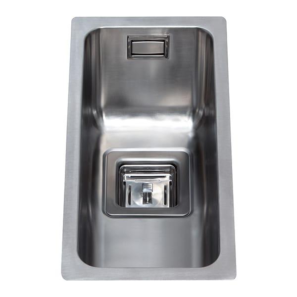 CDA - KSC21SS - Stainless steel undermount half bowl sink
