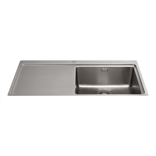 CDA - KVF21LSS - Single bowl flush-fit sink with left hand drainer