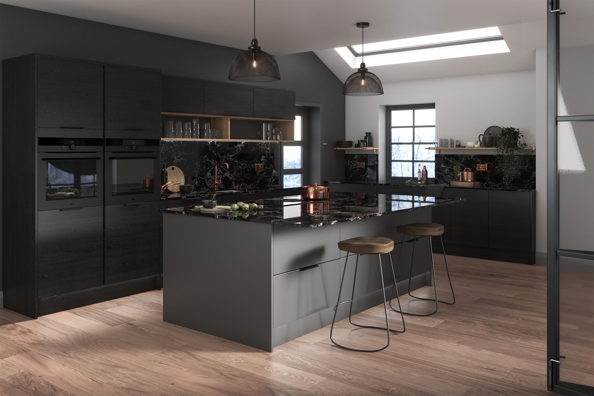 Cento Black Ash Kitchens Buy Cento Black Ash Kitchen Units At Trade Prices