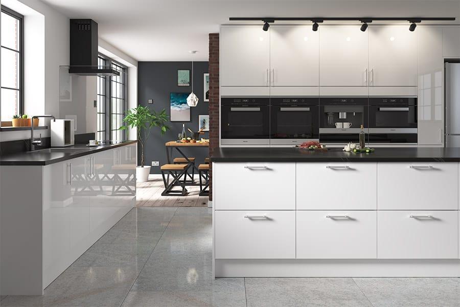 Buy Livorna White Kitchen Doors At Trade Prices Diy Kitchens